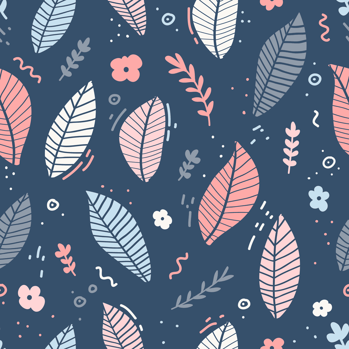 Pattern-con-foglie-trend-grafici-2020